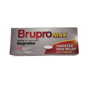 Brupro Max Ibuprofen 400mg Tablets 12 Pack
