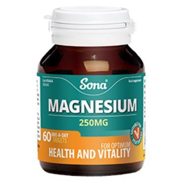 Sona Magnesium 250mg 120 vegetarians tablets