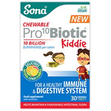 Sona Pro Biotic kiddie 10 Billon 30 chewable tabs