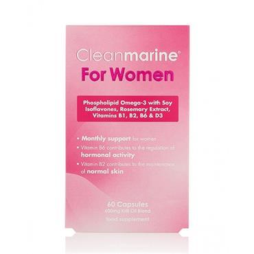 Cleanmarine for Women 600mg krill oil 60 capsules