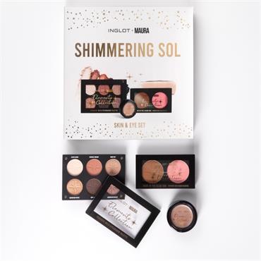 Inglot Shimmering Sol set