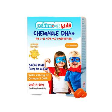 Eskimo-3 Kids Chewable DHA+ (orange) 27 chewables