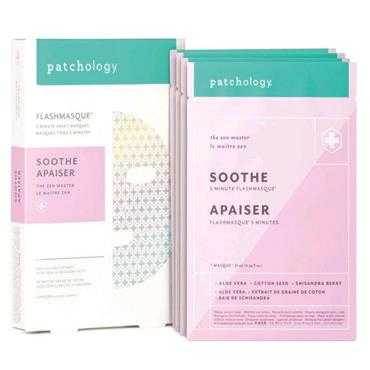 Patchology FlashMasque Sooth Face Mask Pack of 4
