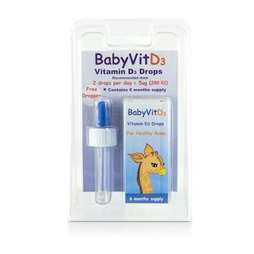BabyVitD3 5ug Vitamin D3 Drops (6 months supply)
