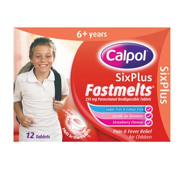 Calpol Six Plus Sugar Free Fastmelts 12 Tablets