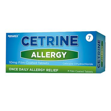 Cetrine Hayfever Allergy Relief 10mg 7 Pack