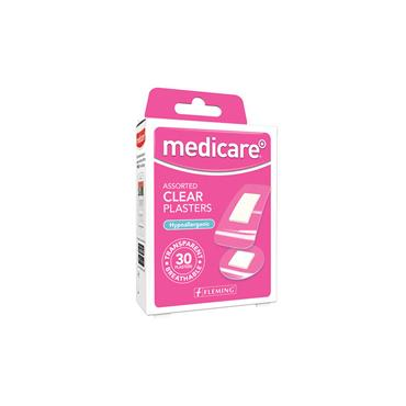 Medicare Assorted Clear Plasters Hypoallergenic 30