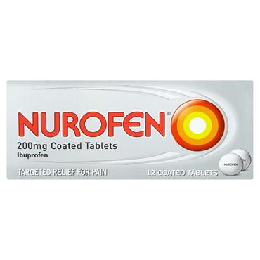 Nurofen Ibuprofen 200mg Coated Tablets 12 Pack