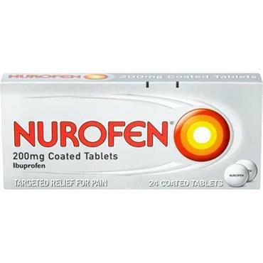 Nurofen Ibuprofen 200mg Coated Tablets 24 Pack