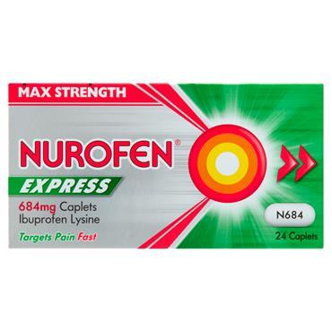 Nurofen Express Max 400mg Ibuprofen 24 Pack