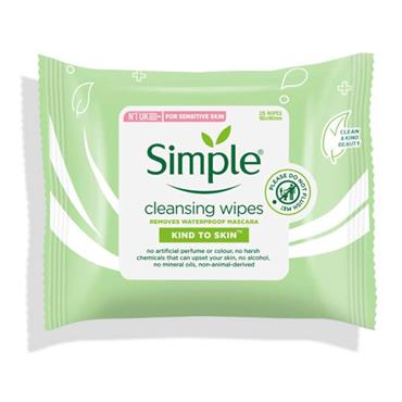Simple Facial Wipes Twinpack 2 X 25