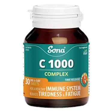 Sona Natural Vitamin C Complex 1000mg 30 Tablets