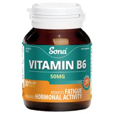 Sona Vitamin B6 50mg 30 tablets