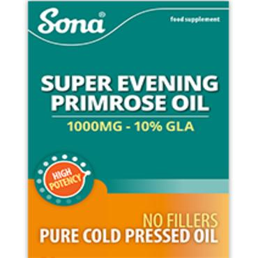 Sona Evening Primrose Oil 1000mg Double Pack 30X30