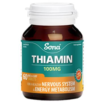 Sona Thiamin 100mg 60 Tablets