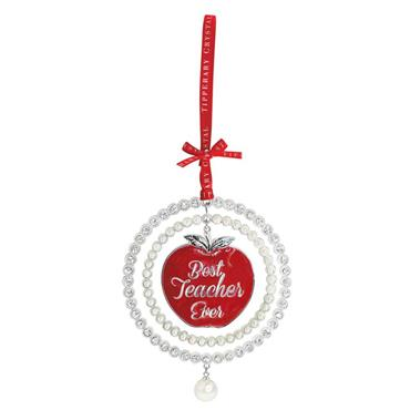 TIPPERARY CRYSTAL PEARL TEACHERS CHRISTMAS DECORATION