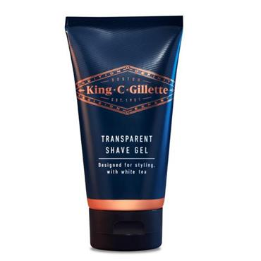 KING C GILLETTE TRANSPARENT SHAVE GEL 150ML