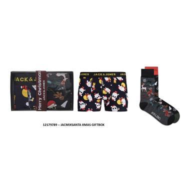 JACK&JONES XMAS BOXER AND SOCKS GIFT BOX (SIZE MEDIUM)