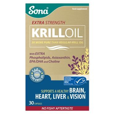 SONA EXTRA STRENGTH KRILL OIL CAPS 30