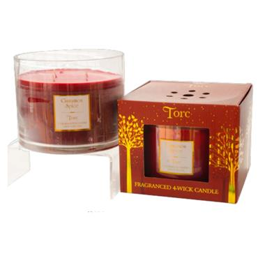 TORC 4 WICK CANDLE CINNAMON SPICE