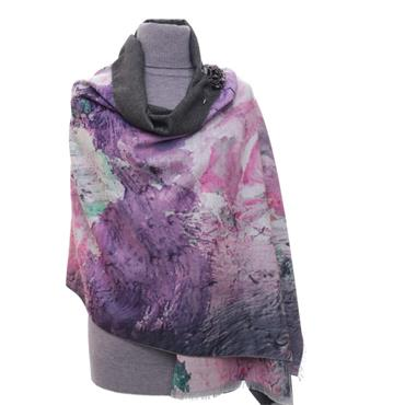 ZELLY LUXURY WRAP ABSTRACT PINK SCARF