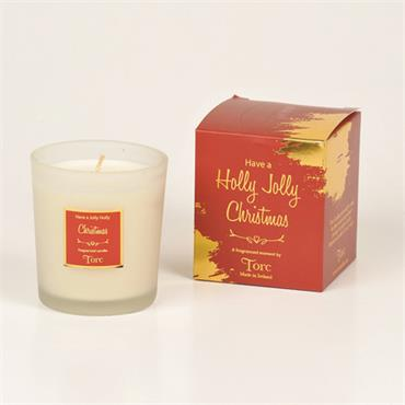 HAVE A HOLLY JOLLY CHRISTMAS SCENTED CANDLE