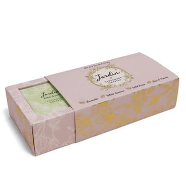 TIPPERY CRYSTAL JARDIN 4 SCENTED SOAP SET
