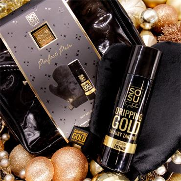 SOSU DRIPPING GOLD PERFECT PAIR MEDIUM LOTION BAG