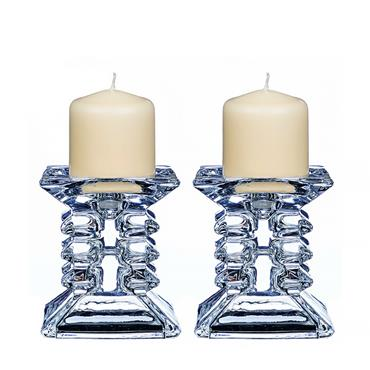 NEWGRANGE LIVING  ZIGGY PILLAR CANDLE HOLDERS