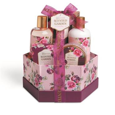 GARDEN BOX SET 7PCE COUNTRY ROSE SCENTED