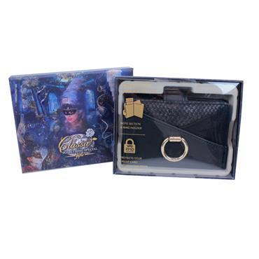 CREDIT CARD SLIDER WALLET BLACK