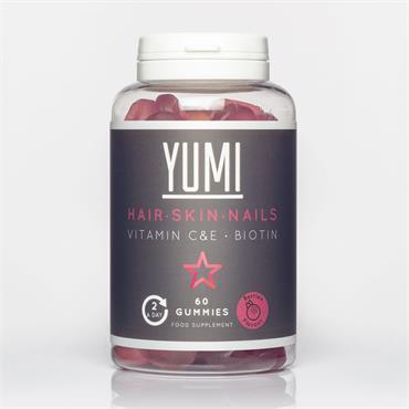 YUMI HEALTH HAIR SKIN & NAILS GUMMIES 60 CAPS