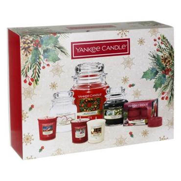 YANKEE CANDLE COUNTDOWN TO CHRISTMAS WOW FESTIVE GIFT SET 7 PACK