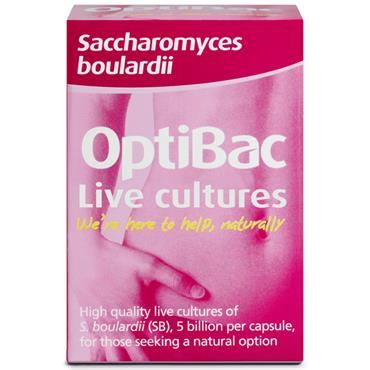 OPTIBAC SACCHAROMYCES BOULARDII BOWEL CALM 16CAPS