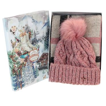 SOMETHING SPECIAL CHUNKY KNIT HAT N SCARF SET LADIES  1PACK