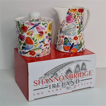 SHANNONBRIDGE SWAN GARDEN MILK & SUGAR BOWL
