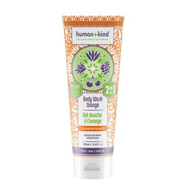 HUMAN AND KIND BODYWASH ORANGE 250ML
