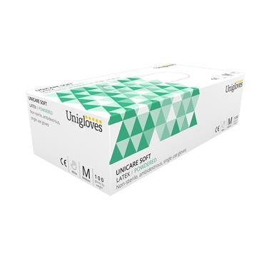 UNIGLOVES LATEX POWDER FREE SMALL 100S REF GL-79S