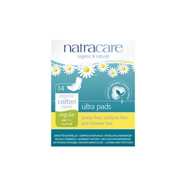 NATRACARE ULTRA PAD WITH WINGS DEGRADABLE 1X14PK
