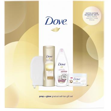 DOVE PREP AND GLOW GRADUAL TAN COLLECTION GIFT 3PCE