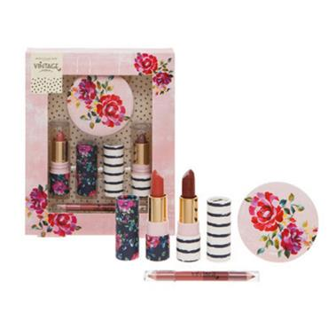 VINTAGE LIPS AND MIRROR 4PC SET