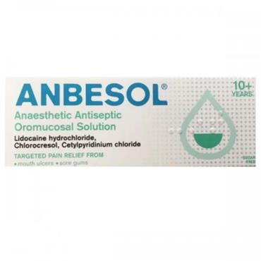 ANBESOL ANAESTHETIC ANTISEPT OROMUC SOLN