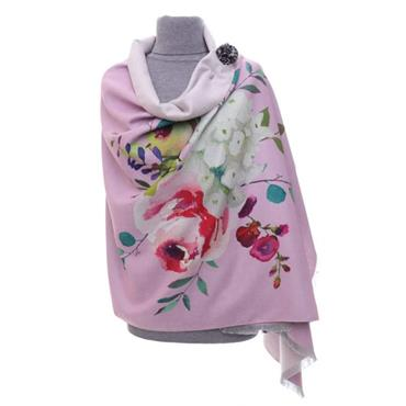 ZELLY PINK LUXURY FLORAL WRAP