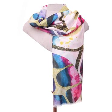 ZELLY PINK AND PURPLE LUXURY SCARF 530409