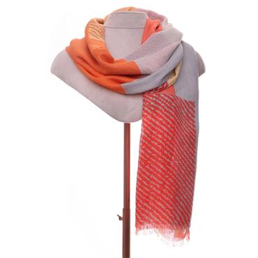 ZELLY ABSTRACT ORANGE SCARF 537415