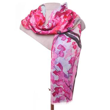 ZELLY PINK LUXURY SCARF 530309