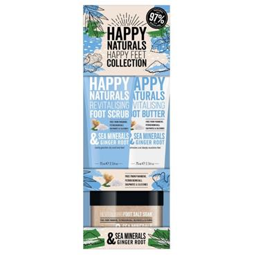 HAPPY NATURALS FEET COLLECTION SEA MINERALS AND GINGER ROOT SET
