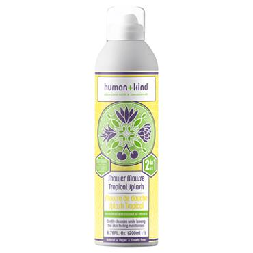 HUMAN AND KIND SHOWER MOUSSE TROPICAL SPLASH 200ML