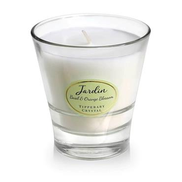 JARDIN BY TIPPERARY CRYSTAL CANDLE BASIL ORANGE BLOSSOM