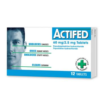 ACTIFED TABLETS 12PK